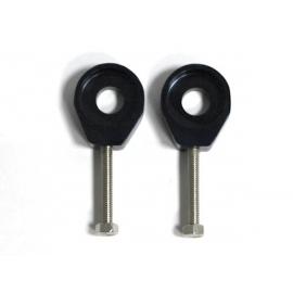 Tendeurs de chaîne alu rond - 15/6mm - Noir